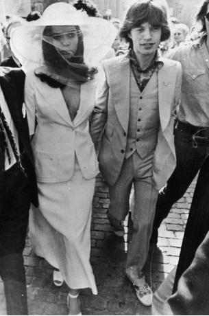 Bjanka i Mik Džeger na venčanju