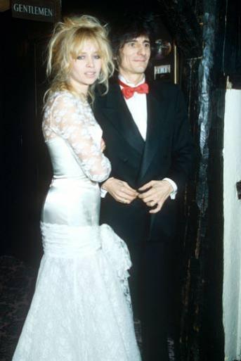 Džo i Roni Vud na venčanju