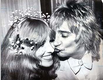Rod Stjuart sa suprugom Alan