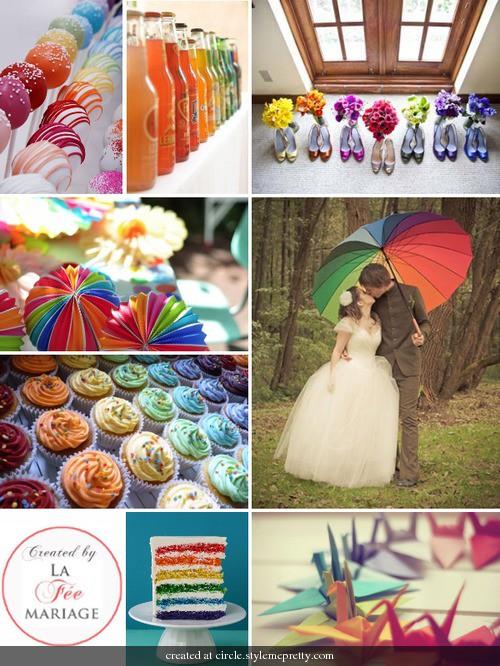 sve sitnice za venčanje u duginim bojama