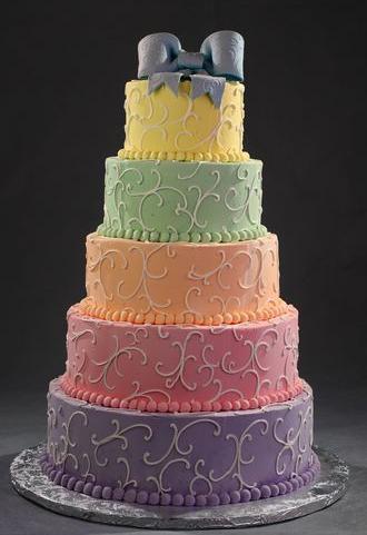 šarena mladenačka torta