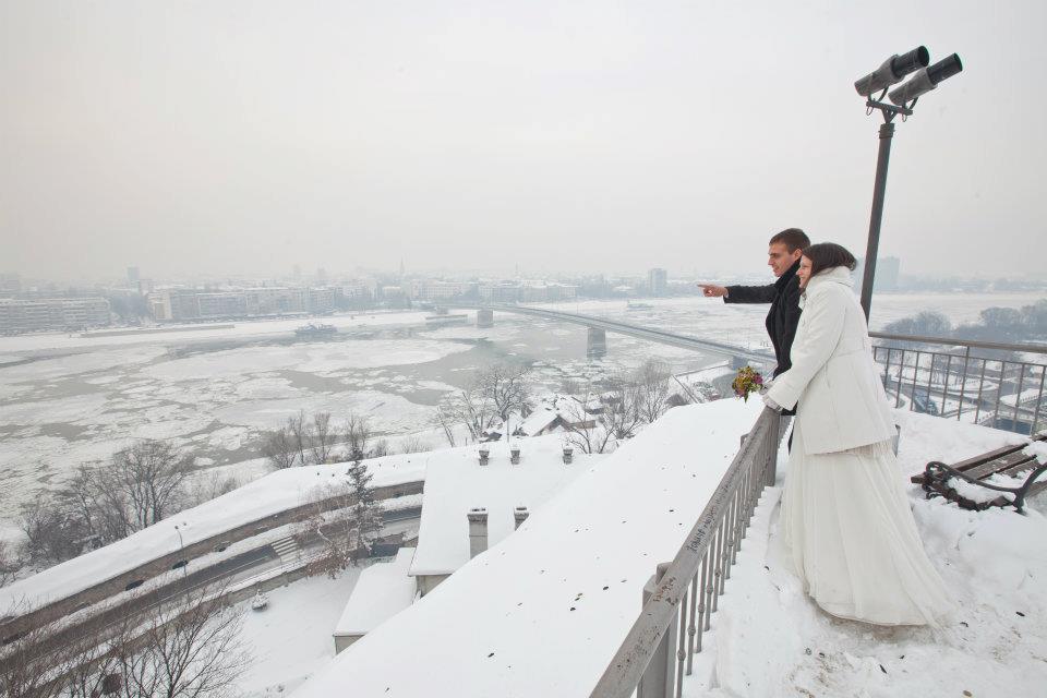 mladenci na Petrovaradinskoj tvrđavi