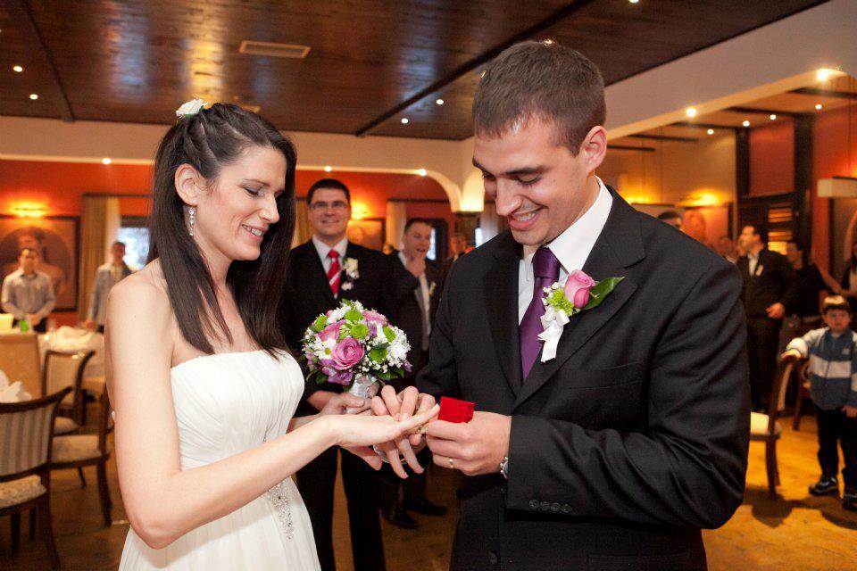 Jelena i Marko na venčanju