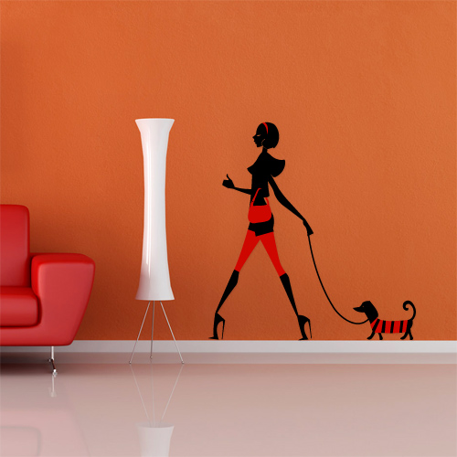 Fantastick stikeri za zid, model Red and orange loving room