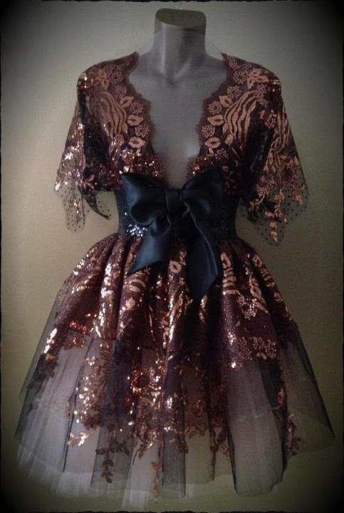 haljina Boudoir Brown Sugar Dress