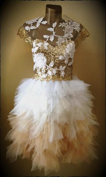 haljina Boudoir Gold Swan