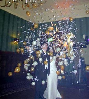 balon koji eksplodira efekat za venčanje