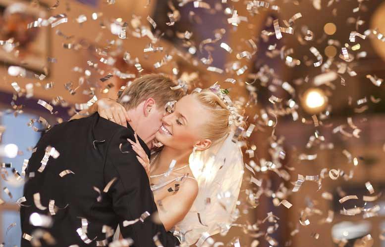 konfete na venčanju