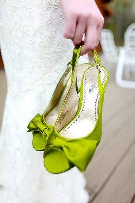 zelene cipele za mladu