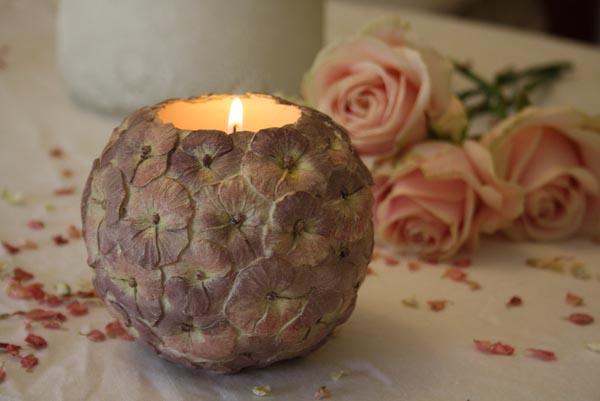 vintage dekoracija svećama