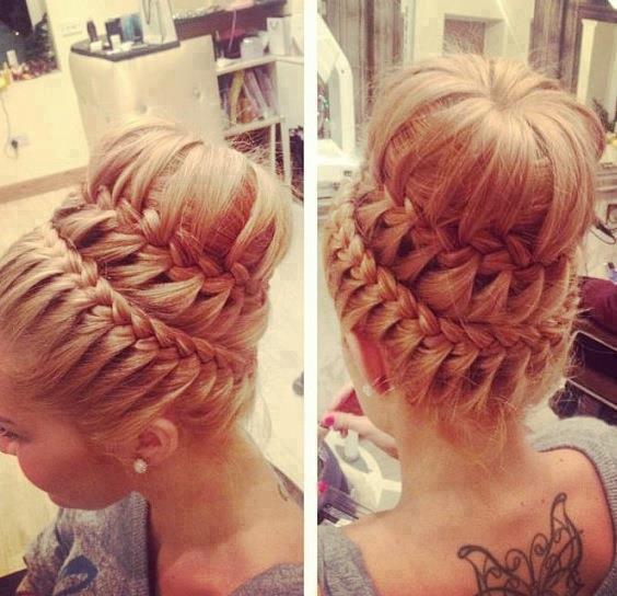 svecana frizura sa pletenicama za vencanje