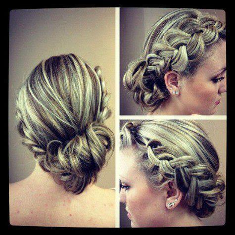 originalna frizura sa pletenicama za vencanje ili izlazak