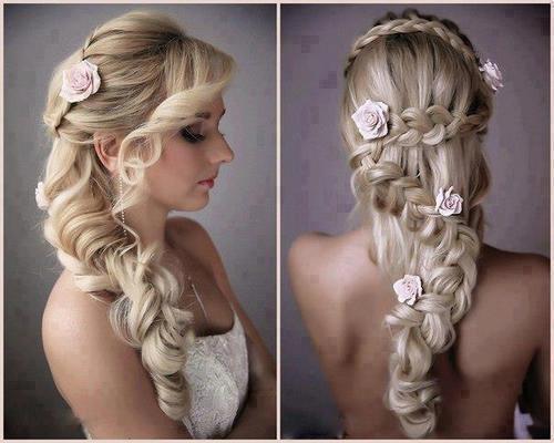 romanticna frizura sa pletenicama za vencanje