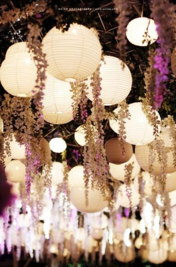 papirni lampioni kao dekoracija