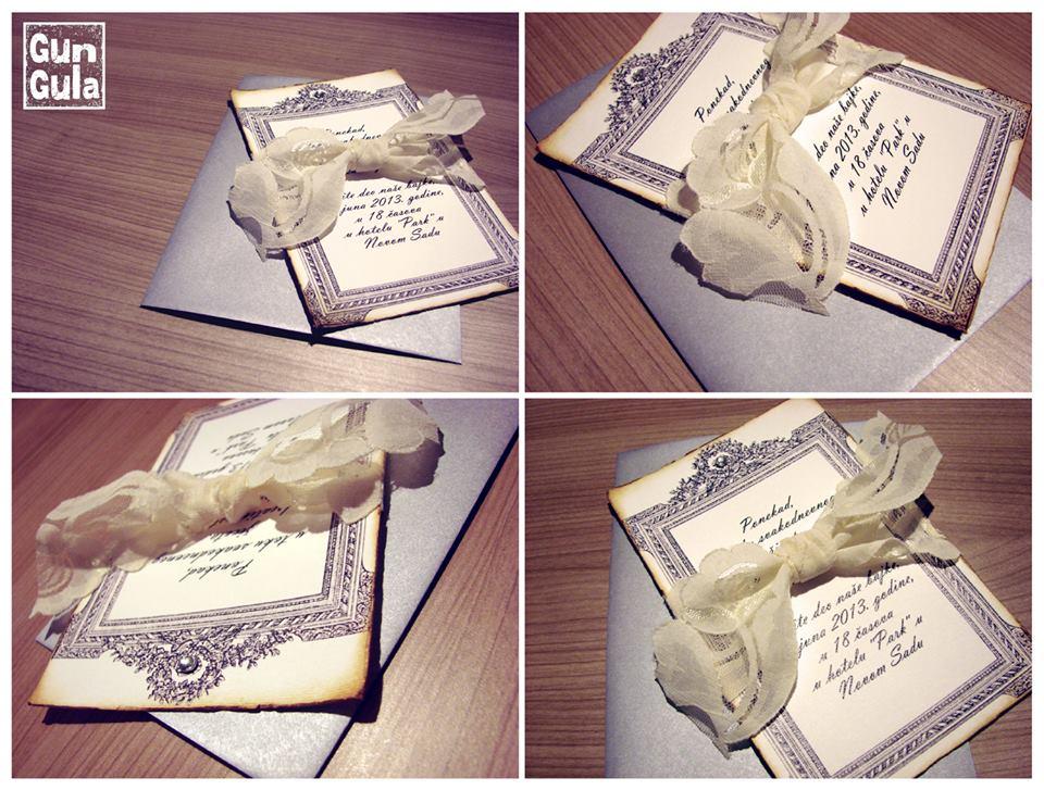 Unikatne i rucno radjene pozivnice i cestitke za vencanje
