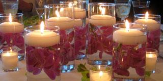 svece za dekoraciju vencanja