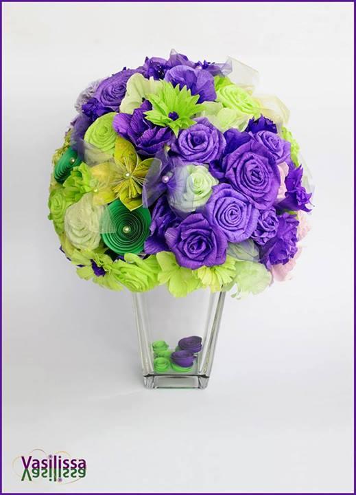 dekoracija od papirnog cveća