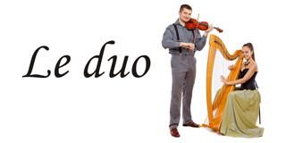 Le duo (harfa i violina)