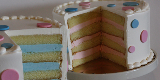 torta za proslavu otkrivanja pola deteta